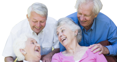 old people laughing